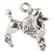 Poodle 3D Sterling Silver Charms